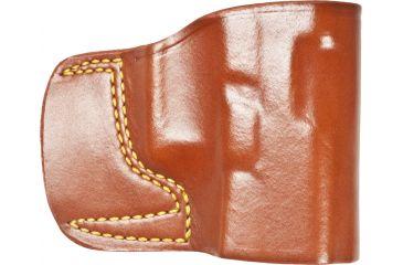 Gould & Goodrich 891 Belt Slide Holster, Chestnut Brown, Right Hand - Glock 30/39 & Similar