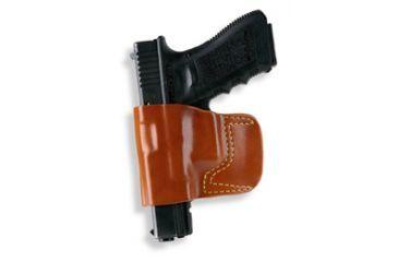Gould & Goodrich 891 Belt Slide Holster, Chestnut Brown, Left Hand - Ruger LCP, Beretta Tomcat