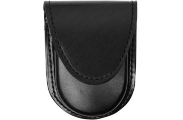 Gould & Goodrich B583 Round Bottom Single Handcuff Case, Hidden Snap, Plain Black