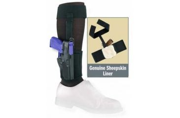Gould and Goodrich Black Ankle Holster Plus Garter B816
