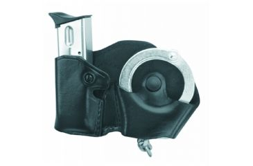 Gould & Goodrich B841 Cuff/Mag Case w/Belt Loops, Black, Right Hand - Colt 9mm/.40