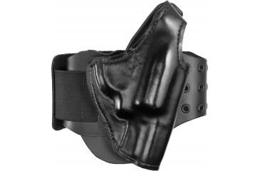 G&G B716-42 BootLock Plain Black Right Hand Ankle Holster - Small Dbl Action Revolvers
