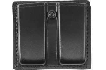 Gould & Goodrich Double Magazine Pouch, Black Leather - 1911 Single Stacks & Similar - K617-2