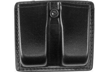 Gould & Goodrich Double Magazine Pouch, Black Leather Beretta 92/96, Browning Hi-Power K617-3