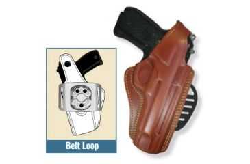 Gould & Goodrich Gold Line Paddle Concealment Holster, RH 807-PM9