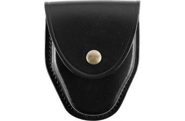 Gould & Goodrich B670BR Handcuff Case, Plain Black, Brass Snap Button B670BR
