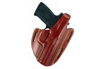 Gould & Goodrich Three Slot Pancake Holster, Chestnut Brown, Right Hand - S&W M&P 9mm/.40/.357