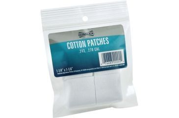 Gunslick Cotton Patches Bagged .243-.270 Cal, 1-1/4 Sq - 100ea 20004