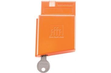 GunVault MagVault Assault Rifle Safety Lock, Orange, Key AR-01 Front