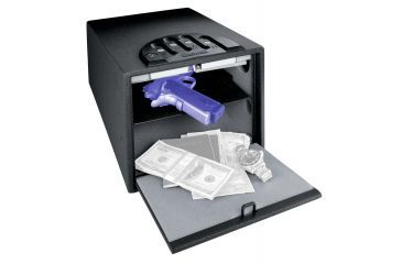 GunVault MultiVault Pistol Safe, Waterproof w/ Keypad Entry, 10.1x7.9x14in -GV2000C-STD