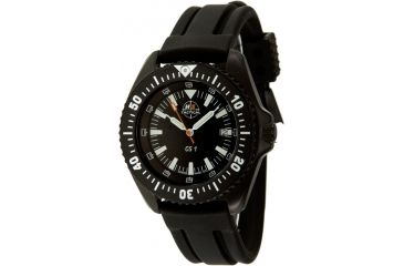 H3 Tactical H3.15010 Green Shadow 1 Mens Watch - Black Dial, Black Rubber Band, Black Bezel