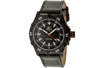 H3 Tactical H3.102181.11 Xtreme-Tec Mens Watch - 48mm, Black Dial, Black Leather Band
