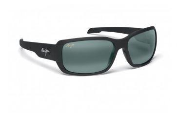 Maui Jim Hamoa Beach Sunglasses w/ Matte Black Rubber Frame and Neutral Grey Lenses - 226-2M, Quarter View