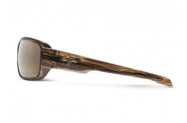 Maui Jim Hamoa Beach Sunglasses w/ Rootbeer Frame and HCL Bronze Lenses - H226-15, Side View