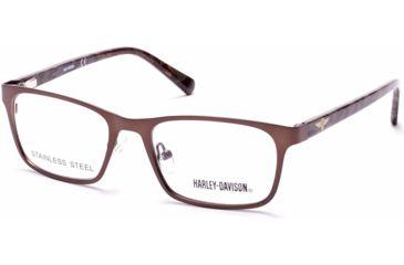 9050a641b2c48 Harley Davidson Eyewear HD0136T Eyeglass Frames - Matte Dark Brown Frame