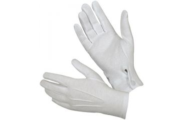 ch Cotton Parade Glove w/Snap Back White S 1010858