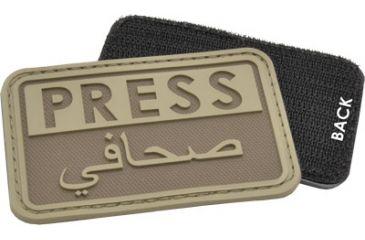 Hazard4 Press - Eng-Arabic Patch, Coyote PAT-PRS-CYT