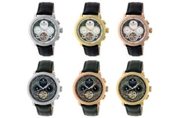 aa5b9ab57 Heritor Aura Leather-Band Watch w/ Day/Date   Up to 66% Off w/ Free S&H