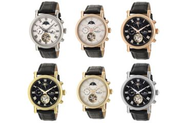 739560fcf Heritor Winston Semi-Skeleton Leather-Band Watch | Up to 60% Off w ...
