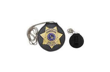 Heros Pride 3-5/8in Deluxe Round Badge holder Recessed Cutout, 7-pt Star 9150R-0010