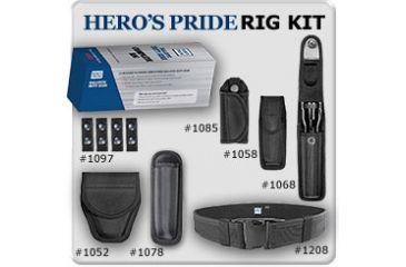 Heros Pride Ballistic Duty Gear Rig--7 Pc , Belt Size Medium , 28 thru 34, Black R1234A-M