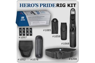 Heros Pride Ballistic Duty Gear Rig--8 Pc , Belt Size Small 24 thru 28, Black R1234B-S