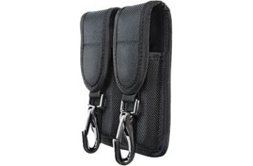 Heros Pride Double Magazine Pouch - Medium - With Two Metal Clips , CDCR , - Ballistic, Black 1110