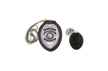 Heros Pride Recessed Oval Badge Holder with Hook Closure, Shield 9150T-0001
