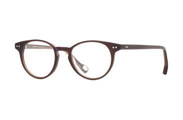 Hickey Freeman HF Cambridge SEHF CAMB00 Single Vision Prescription Eyeglasses - Brown Stripe SEHF CAMB004645 BN