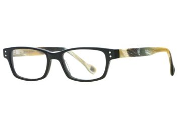 Hickey Freeman HF Cornell SEHF CORN00 Progressive Prescription Eyeglasses - Black Horn SEHF CORN004940 BK