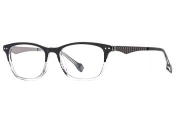 Hickey Freeman HF Kingston SEHF KING00 Progressive Prescription Eyeglasses - Black Fade SEHF KING005045 BK