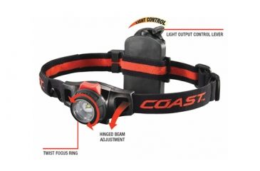 Coast HL7R Rechargeable Focusing LED Headlamp, Box 19274