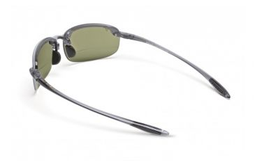 Maui Jim Ho'okipa Reader Sunglasses w/ Smoke Grey Frame and Maui HT 1.50 Magnification Lenses - HT807-1115, Back View