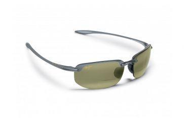 Maui Jim Ho'okipa Reader Sunglasses w/ Smoke Grey Frame and Maui HT 1.50 Magnification Lenses - HT807-1115, Quarter View
