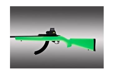 Hogue 10-22 Rubber OverMolded Stock with Standard Barrel Channel Zombie Green 22005