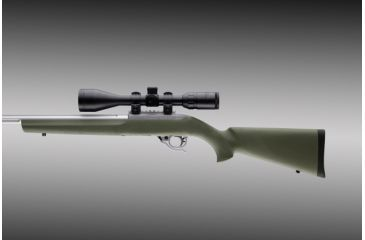 Hogue 10 22 Rubber Overmolded Stock With Standard Barrel Channel Od Green 22200