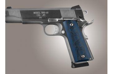 Details about Hogue 1911 Colt Govt  Model G-10 Gun Grip, G-Mascus Blue Lava  45668