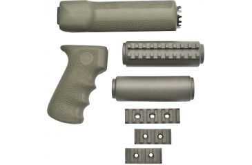 Hogue Ak 47ak 74 Standard Chinese And Russian Kit Overmolded Grip And Forend Od Green 74208 1h Gu 74208