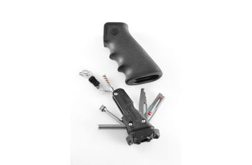 Hogue AR-15/M-16 Rubber Grip Black with Samson Field Survival Kit 15012