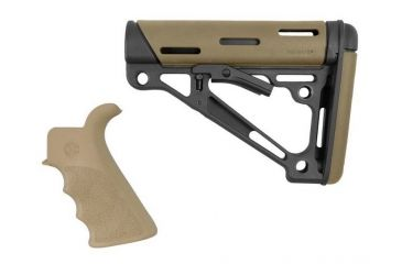 5-Hogue Grooved Beavertail Collapsible Buttstock AR15/M16 Kit