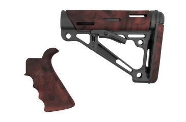 3-Hogue Grooved Beavertail Collapsible Buttstock AR15/M16 Kit
