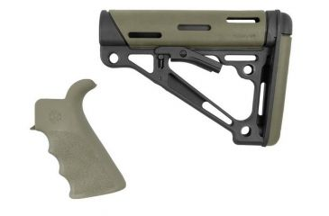 8-Hogue Grooved Beavertail Collapsible Buttstock AR15/M16 Kit