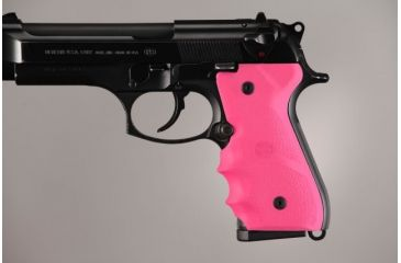 Hogue Beretta 92/96 series grip with Finger Grooves Pink 92007