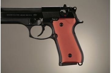 Hogue Beretta 92 Aluminum - Matte Red Anodized 92162