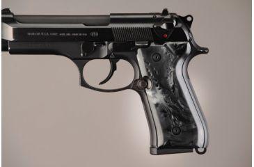 Hogue Beretta 92 Black Pearlized-Polymer 92418