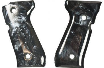 Hogue Beretta 92 Black Pearlized-Polymer Grip 92418