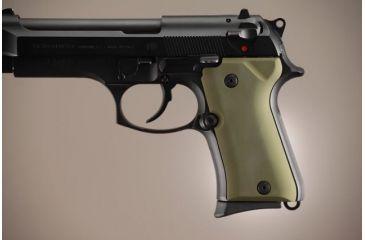 Hogue Beretta 92 Compact Aluminum - Matte Green Anodized 93161