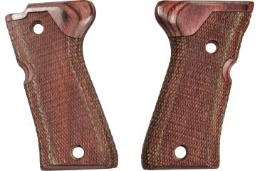 Hogue Beretta 92 Compact Rose Lam. Grip, Checkered 93511