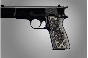 Hogue Browning Hi-Power G-10 - G-Mascus Black/Gray 09167-BLKGRY