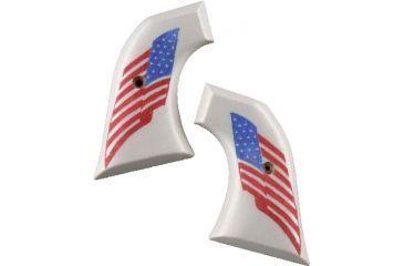 Hogue Ruger Blackhawk/Vaquero Scrimshaw Ivory Polymer - American Flag 83022